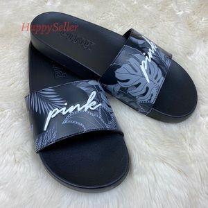 VS PINK Slides Hawaiian Floral Slipons Flower NEW